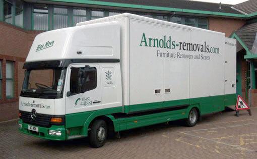 Arnolds Removals van